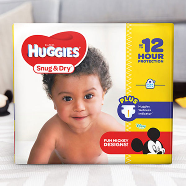 Wholesale liquidation - Huggies diapers container